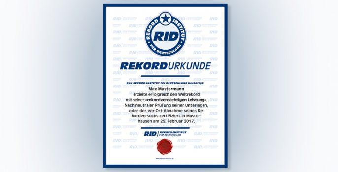 Shop Rekordurkunden Bestellen Rekord Institut Für Deutschland
