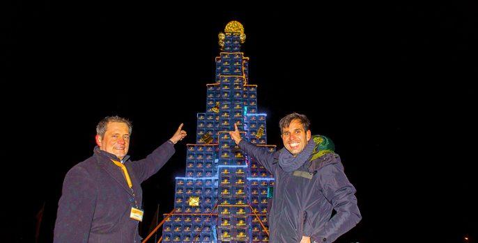 Bier Weihnachtsbaum.Grösster Bierkisten Weihnachtsbaum Rekord Institut Für Deutschland