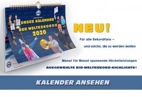 UNSER RID-KALENDER DER WELTREKORDE 2020